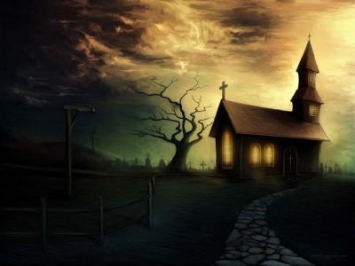 Camino a la casa del terror