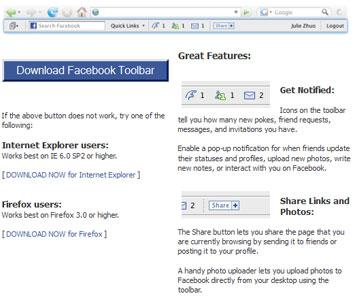Facebook Toolbar
