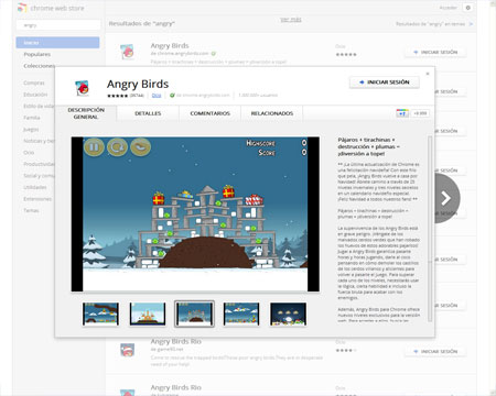 Angry Birds Google Chrome