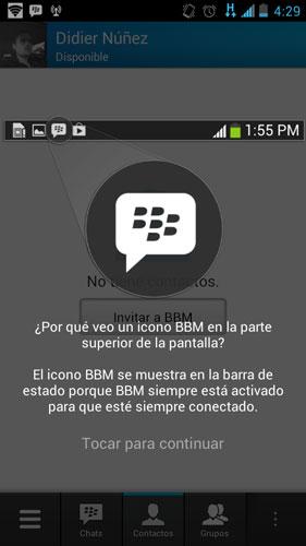 Introducción a BBM en Android