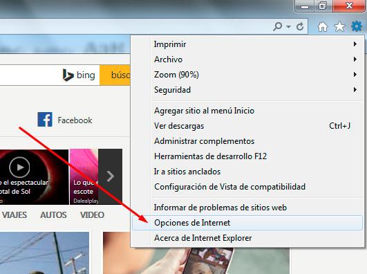 Internet Explorer Borrar Historial